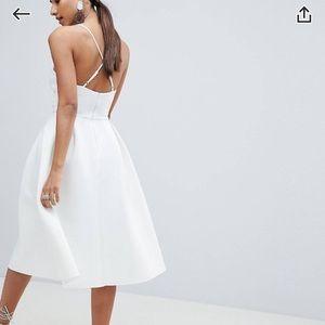 ASOS Design Scuba Cami Prom Midi Dress